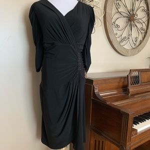 NWT DRESSBARN Size 20 Black Cocktail Holiday Dress